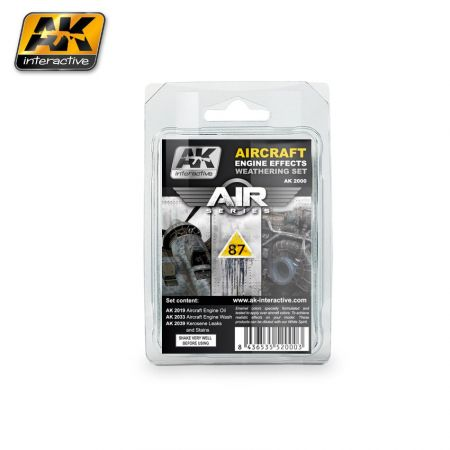 AK INTERACTIVE AIRCRAFT ENGINE EFFECTS WEATHERING SET (AIR SERIES)