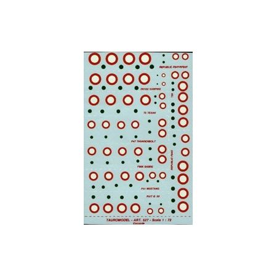 TAURO MODEL 72527 COCC. A.M.I. PER F84G/ F - RF84F - DH100 - F86K - G59 - P47 - P51 -T33 Scala 1/72 Decalcomania
