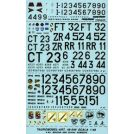 TAURO MODEL 48549 INSEGNE E NUMERI A.M.I. PER TORNADO - P 47 - P 51 - C 130 - T 6, F 104 DECALS 1/48