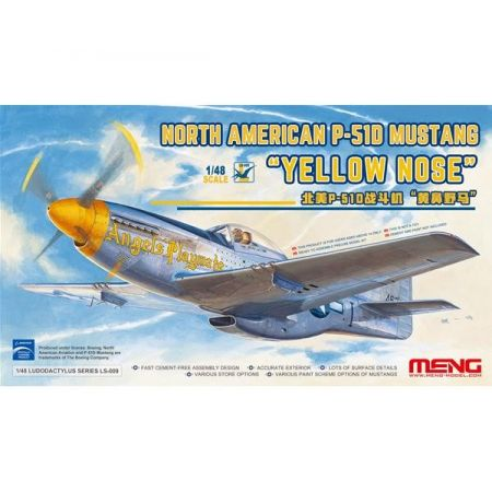 MENG MODEL LS009 North American P-51D Mustang Yellow Nose