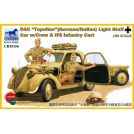 """Bronco Models: """"Topolino"""" DAK (tedesca/italiana) con equipaggio e carrellino IF8"""