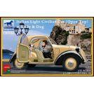 Bronco Models: auto civile Italiana cabriolet con donna e cane