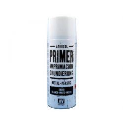 Vallejo PRIMER SPRAY: White Primer 400 ml. - bomboletta da 400 ml.