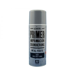 Vallejo PRIMER SPRAY: Grey Primer 400 ml. - bomboletta da 400 ml.