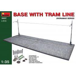 MINI ART 36057 BASE WITH TRAM LINE