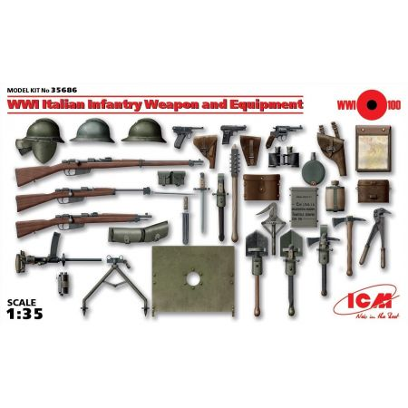 ICM 35686 WWI Italian Infantry Weapon and Equipment