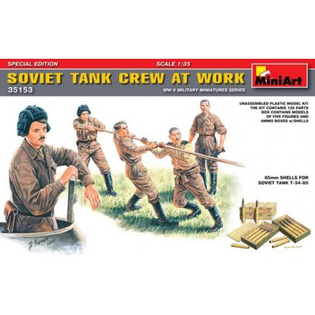 MINIART 35153 SOVIET TANK CREW AT WORK 1/35