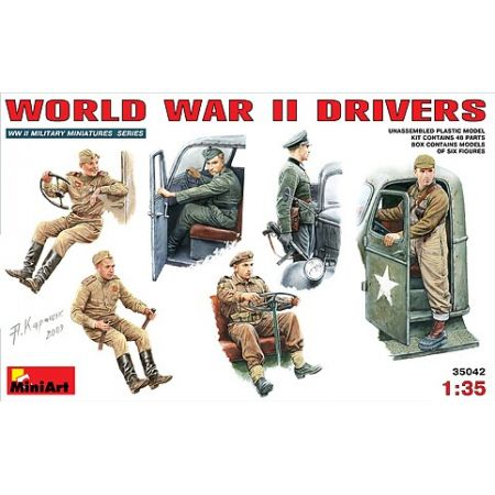 MINIART 35042 WORLD WAR II DRIVERS 1/35