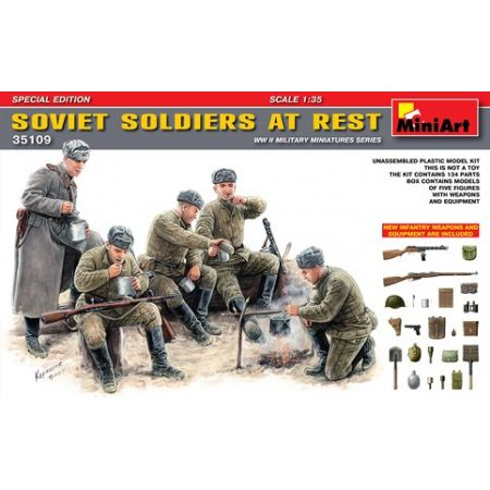 MINIART 35109 SOVIET SOLDIERS AT REST 1/35