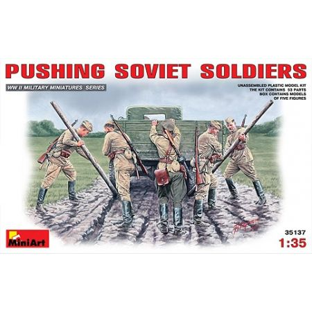 MINIART 35137 PUSHING SOVIET SOLDIERS 1/35