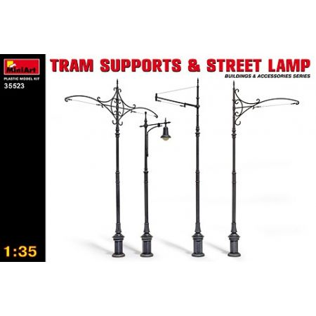 MINIART 35523 TRAM SUPPORTS & STREET LAMP 1/35