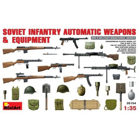 MINIART 35154 SOVIET  INFANTRY  AUTAMATIC  WEAPONS  AND  EQUIPMENT 1/35