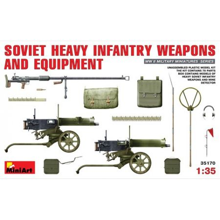 MINIART 35170 SOVIET  HEAVY  INFANTRY  WEAPONS  AND  EQUIPMENT 1/35