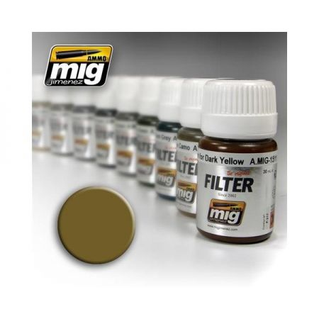 AMMO OF MIG: Filtro OCHRE FOR LIGHT SAND 35ml