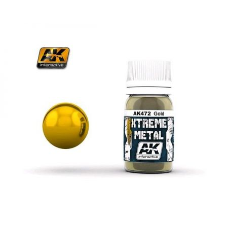 AK INTERACTIVE: XTREME METAL Gold - 30 ml