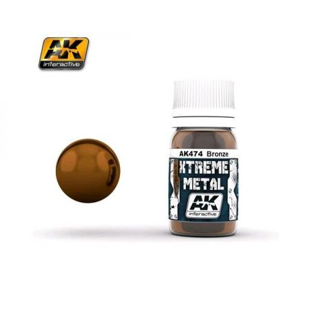 AK INTERACTIVE: XTREME METAL Bronze - 30 ml