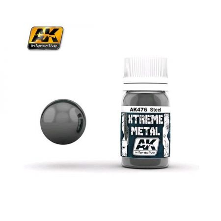 AK INTERACTIVE: XTREME METAL Steel - 30 ml