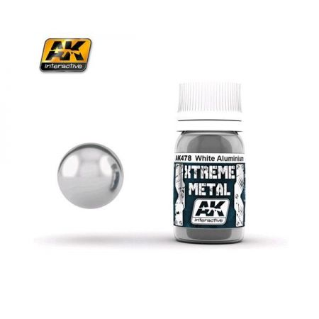 AK INTERACTIVE: XTREME METAL White Aluminium - 30 ml