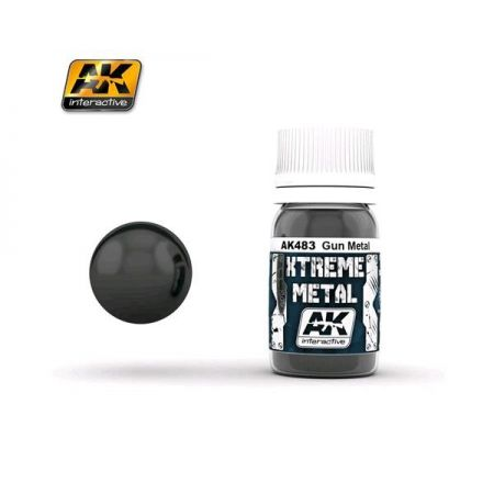 AK INTERACTIVE: XTREME METAL Gun Metal- 30 ml