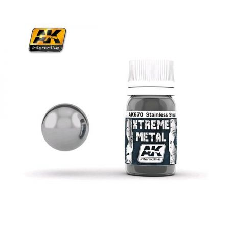 AK INTERACTIVE: XTREME METAL Stainless Steel - 30 ml