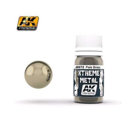 AK INTERACTIVE: XTREME METAL Pale Brass - 30 ml