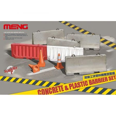 MENG MODEL: SET di barriere di cemento e plastica