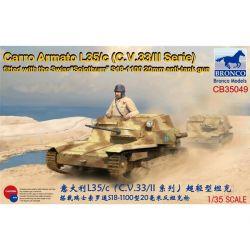 Bronco Models  WWII Carro Armato L35/c (C.V.33/II Serie) equipaggiato con Swiss Solothurn S18-1100 20mm anti-tank gun