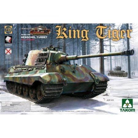 TAKOM MODEL 2073  WWII German Heavy Tank Sd.Kfz.182 King Tiger Henschel Turret con interni, senza Zimmerit