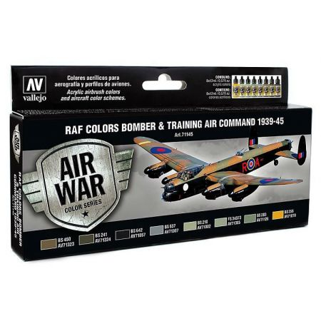 Vallejo Model Air Paint Set - RAF Color set Bomber & Training 1939 –1945