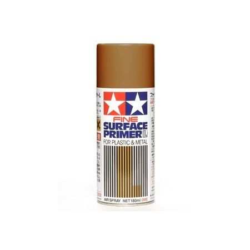 Fine Surface Primer L for Plastic & Metal (Oxide Red)