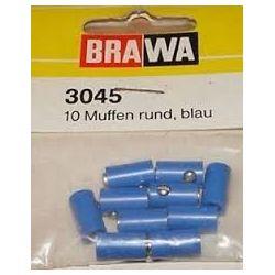 BRAWA 3045 CONFEZIONE 10 SPINOTTI FEMMINA BLU CON PIN GRANDE