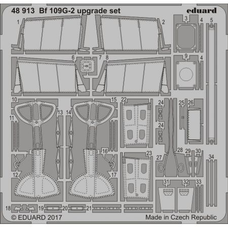 EDUARD 48913 Bf 109G-2 upgrade set 1/48