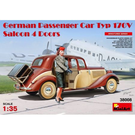 MiniArt 38008 German Passenger Car Type 170V Saloon