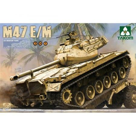 TAKOM MODEL 2071 US Medium Tank M47 E/M 2 in 1