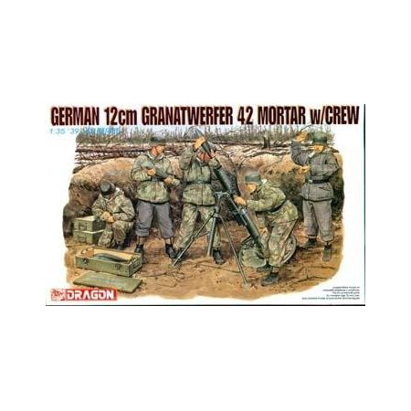Dragon 6090 GERMAN 12cm GRANATWERFER 42 MORTAR w/CREW