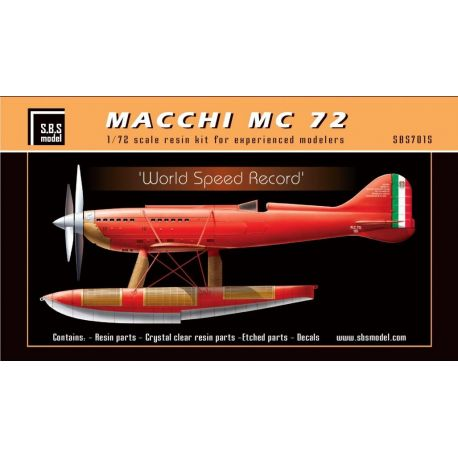 Macchi MC 72 'World Speed Record' 1/72- kit in resina