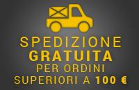 Spedizione gratuita sopra 100€