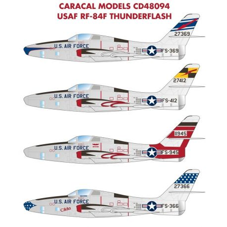 CARACAL 48094 USAF Republic RF-84F Thunderflash