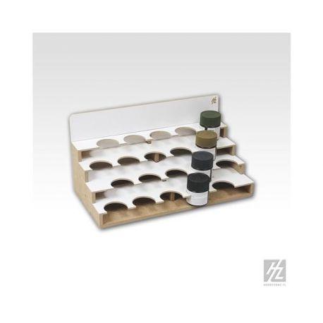 HobbyZone Organizer modulare per 20 boccette di colore diametro 41mm. Dimensioni cm 30x15x15