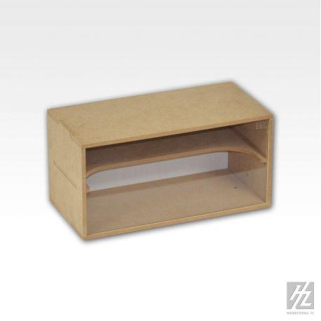 HobbyZone Organizer modulare porta miniature con vetro anti-polvere. Dimensioni cm 30x15x15