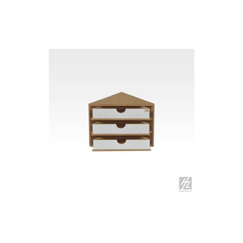 HobbyZone cassettiera ad angolo con 3 cassetti. Dimensioni cm ...
