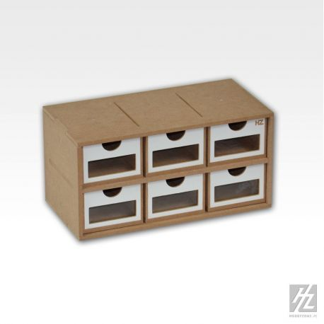 HobbyZone cassettiera a 6 cassetti (cm 8x13x6). Dimensioni cm 30x15x15