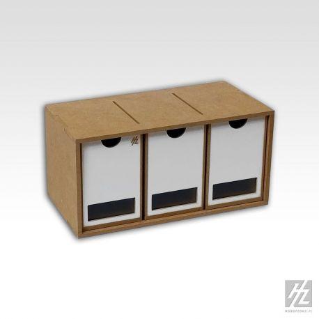 HobbyZone: cassettiera a 3 cassetti (cm 8x13x13). Dimensioni cm 30x15x16
