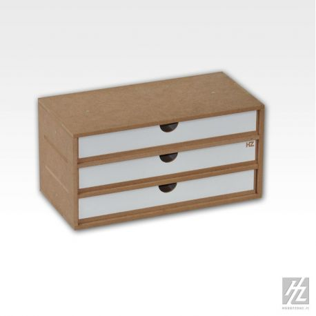 HobbyZone: cassettiera a 3 cassetti (cm 27,4x 13,2x 3,4). Dimensioni cm 30x15x15