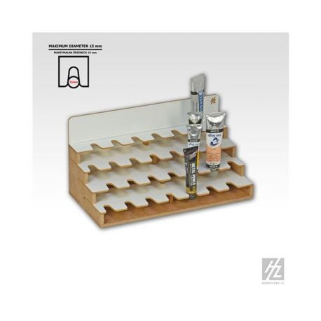HobbyZone Organizer modulare per 28 tubetti di colore ad olio. Dimensioni cm 30x15x15