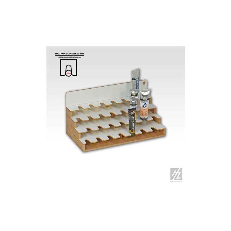 HobbyZone Dimensioni cm 42,5x18x9,5 Organizer modulare EXTRA GRANDE per 28 boccette di colore diametro 41mm
