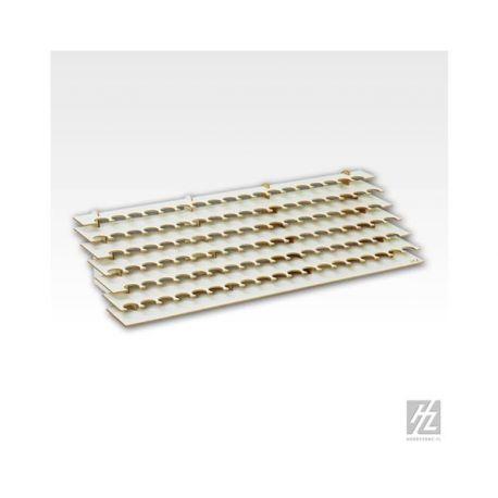 HobbyZone: Postazione modulare LARGE per 111 boccette di colore diametro 26mm. Dimensioni cm 60x23x14