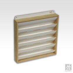 HobbyZone scaffale da parete per boccette di colore diametro 36mm. Dimensioni cm 30x30x5