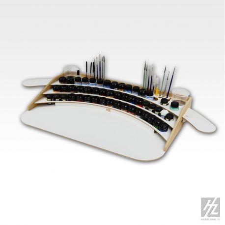 HobbyZone: Postazione professionale per boccette di colore diametro 36mm. Dimensioni cm 60x40x8