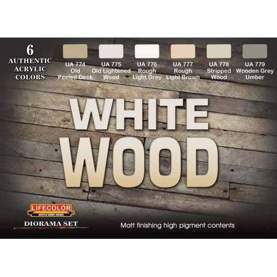 Life Color White Wood DIORAMA SET